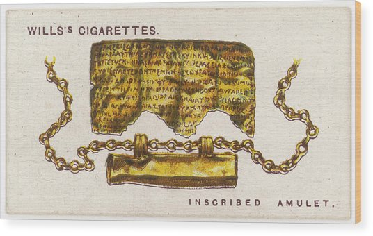 Magical Amulet This Greco-roman Amulet Wood Print