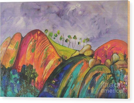 Magical Mountains Wood Print