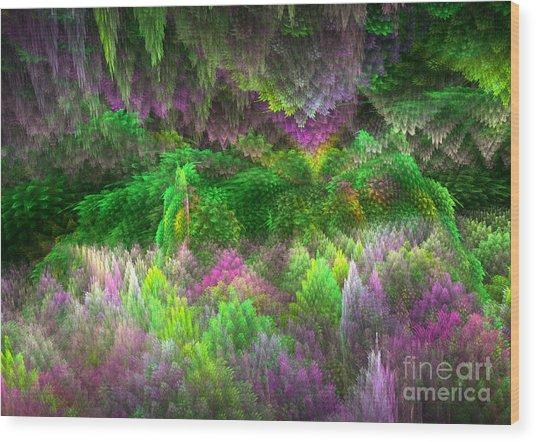 Magical Mystery Woods Wood Print