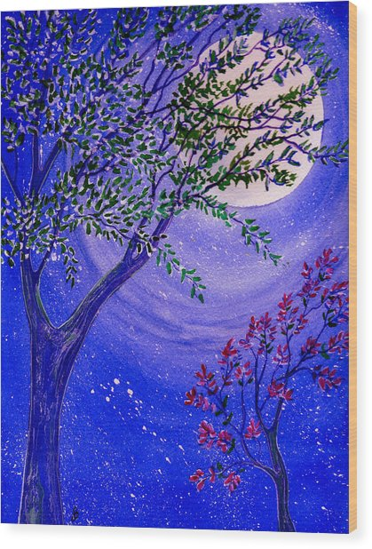 Magical Spring Wood Print