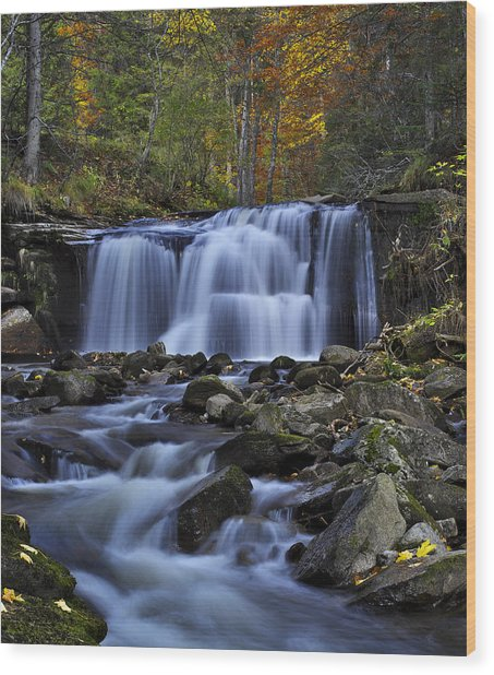 Magnificent Waterfall Wood Print