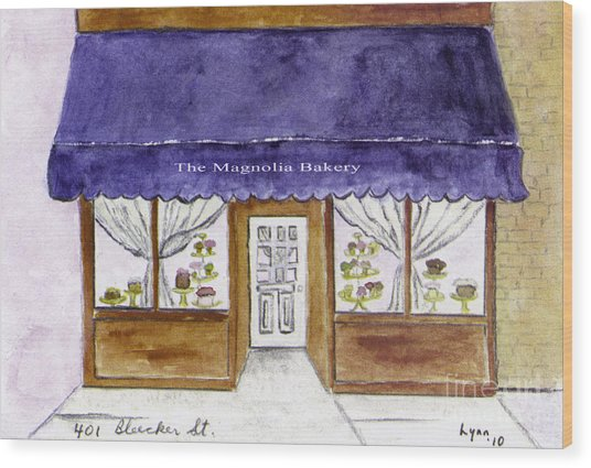 Magnolia Bakery In Greenwich Village Wood Print