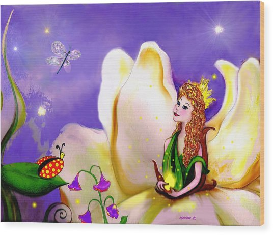 Magnolia Fairy Princess Wood Print