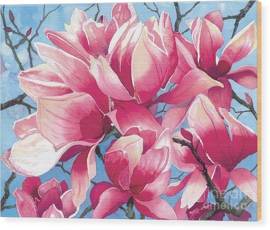 Magnolia Medley Wood Print
