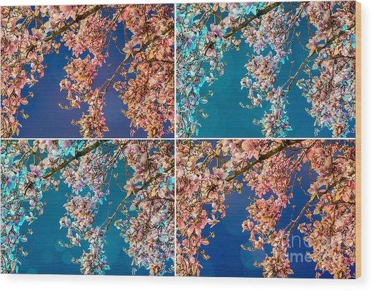 Magnolia Quad Wood Print