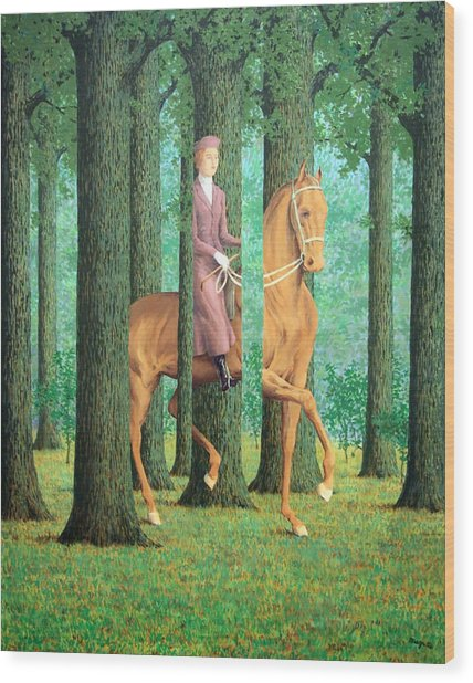 Magritte's The Blank Signature Wood Print