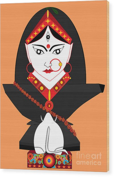 Mahagauri Wood Print