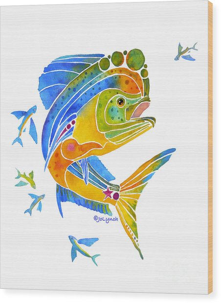Mahi Saltwater Fish Art Gifts Wood Print