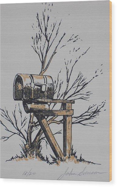 Mail Box Wood Print