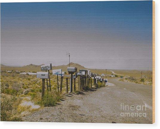 Mail Call In Arizona Wood Print