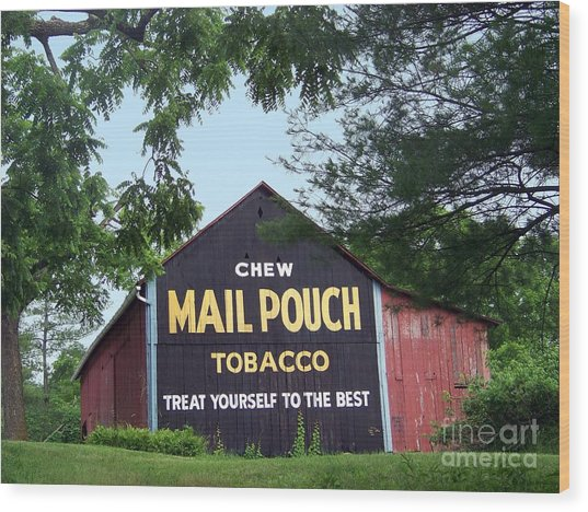 Mail Pouch Barn Framed Wood Print