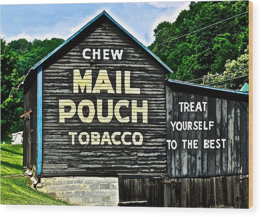 Mail Pouch Chew Wood Print