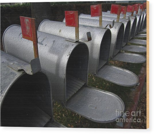 Mailboxes Wood Print by Dan Julien