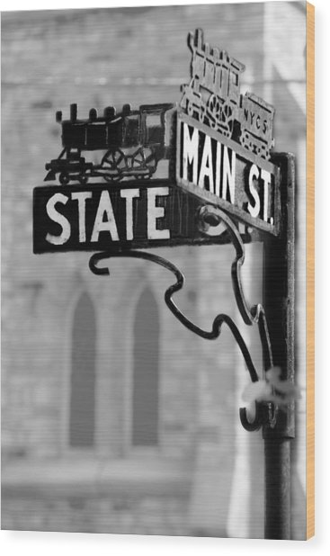 Main St IIi Wood Print