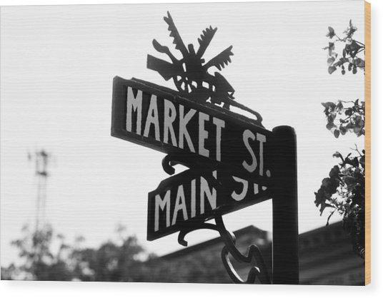 Main St Iv Wood Print