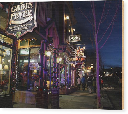 Main Street Breckenridge Colorado Wood Print