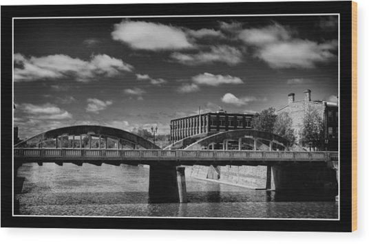 Main Street Bridge Wood Print