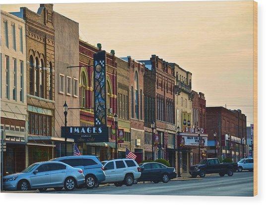 Main Street Denison Wood Print