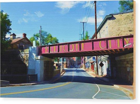 Main Street - Ellicott City Wood Print
