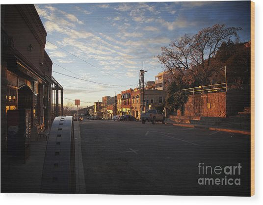 Main Street Jerome Arizona Wood Print