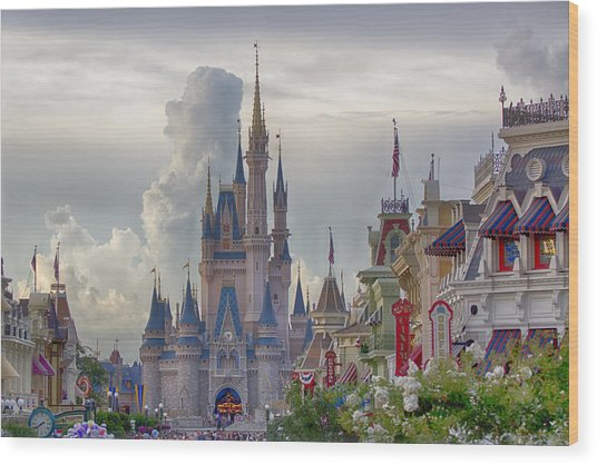 Main Street Usa Wood Print