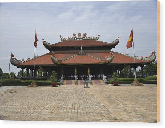Main Temple Of The Ben Duoc Monument To War Martyrs. Cu Chi, Vietnam Wood Print by Sheldon Levis