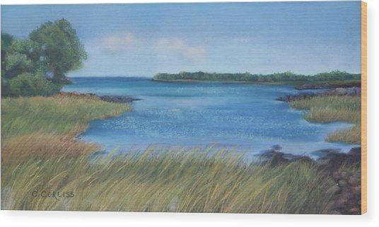 Maine Blues Wood Print