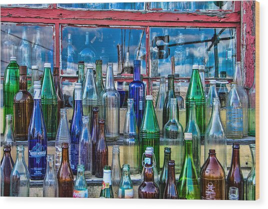 Maine Bottle Collector Wood Print