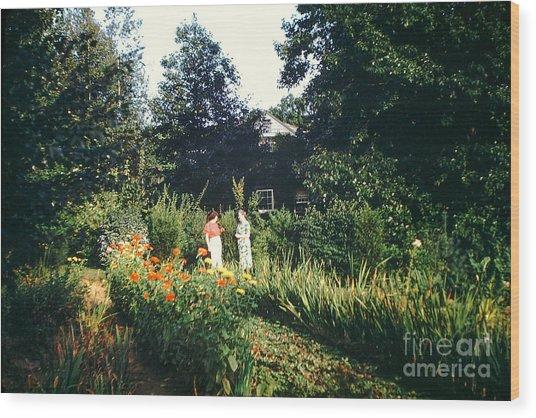 Maine Garden Wood Print