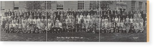 Maine High School, 1930 Wood Print by Granger