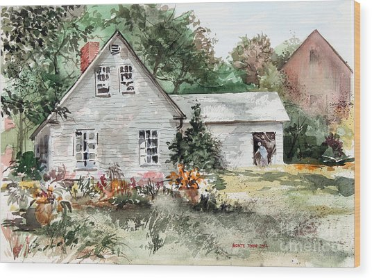 Maine Sunshine Wood Print
