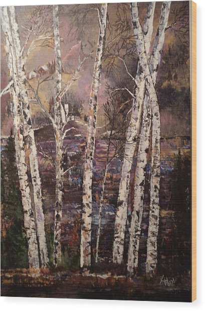 Majestic Birch Wood Print