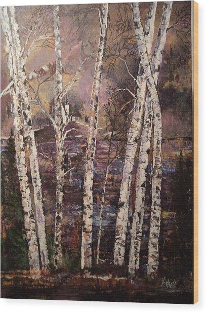 Majestic Birch Wood Print