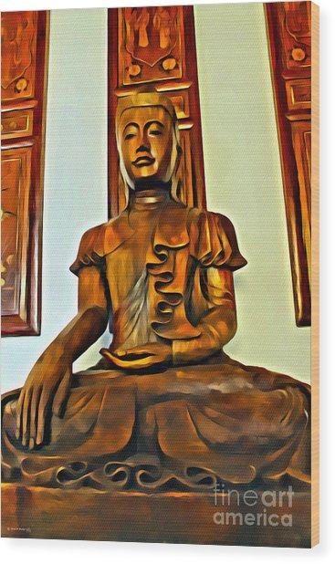 Majestic Buddha Wood Print