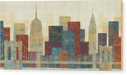 Majestic City Wood Print