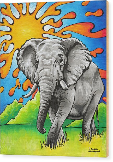 Majestic Elephant Wood Print