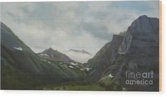 Majestic Glacier Park Wood Print
