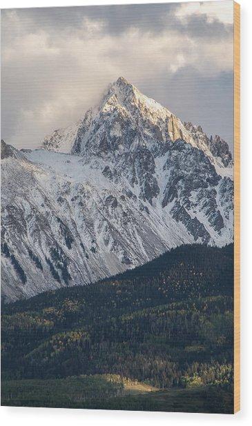 Majestic Light - Mt. Sneffels  Wood Print
