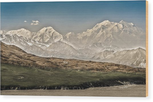 Majestic Mount Mckinley Wood Print