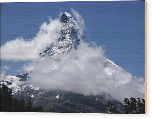 Majestic Mountain  Wood Print