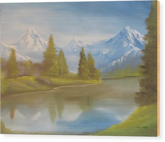 Majestic Mountains Wood Print