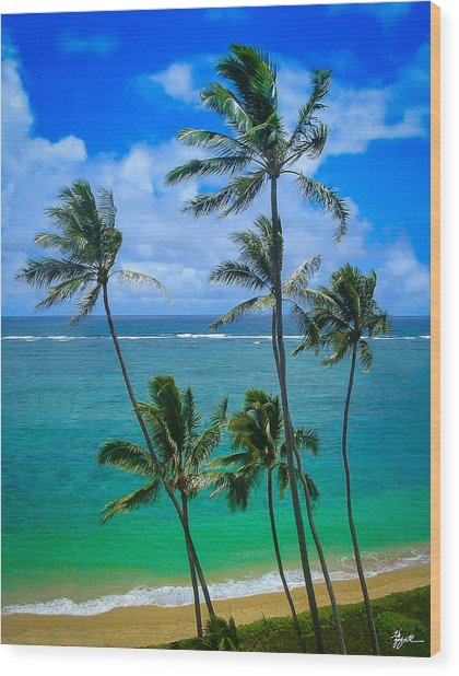 Majestic Palm Trees Wood Print