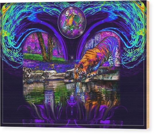 Majestic Pond Wood Print