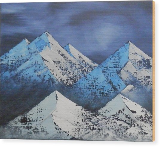 Majestic Rockies Wood Print by Jared Swanson