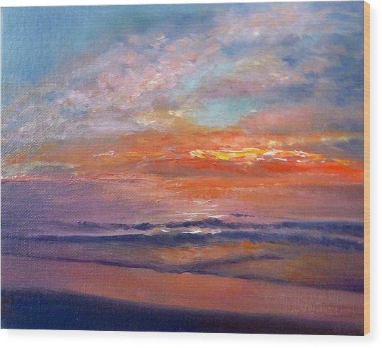 Majestic Sunrise Wood Print