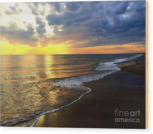 Majestic Sunset Wood Print