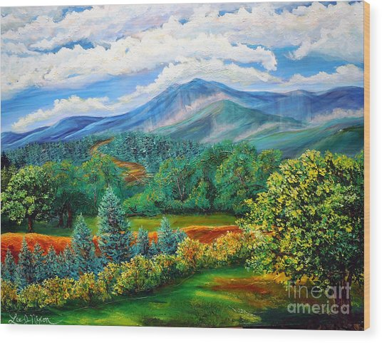 Majestic View Of The Blue Ridge Wood Print
