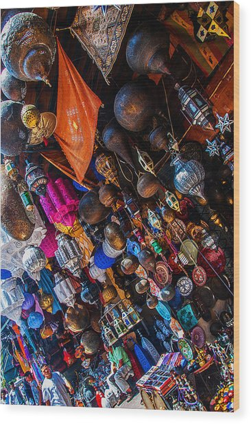 Marrakech Lanterns Wood Print