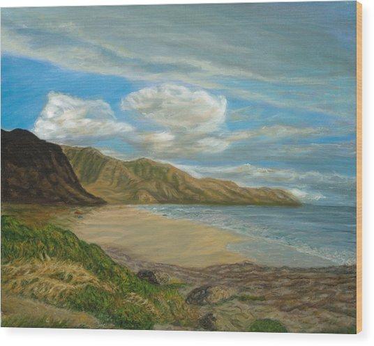 Makaha Beach Wood Print