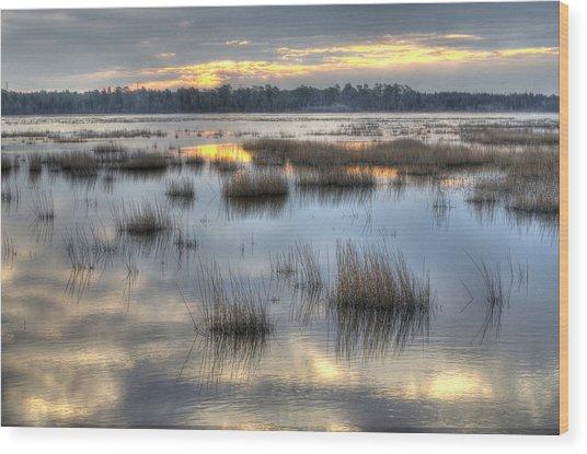 Makepeace Lake Wood Print